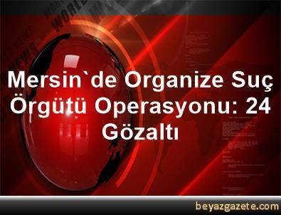 Mersin'de Organize Suç Örgütü Operasyonu: 24 Gözaltı