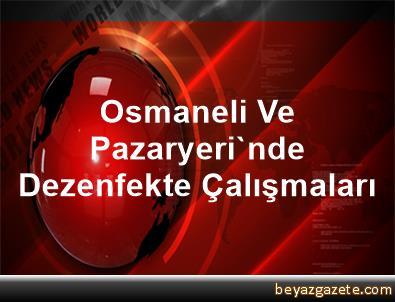 Osmaneli Ve Pazaryeri'nde Dezenfekte Çalışmaları
