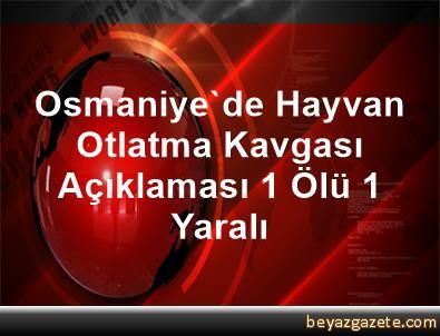 Osmaniye'de Hayvan Otlatma Kavgası Açıklaması 1 Ölü, 1 Yaralı