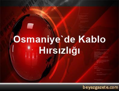 Osmaniye'de Kablo Hırsızlığı