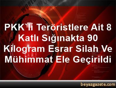 PKK'lı Teröristlere Ait 8 Katlı Sığınakta, 90 Kilogram Esrar, Silah Ve Mühimmat Ele Geçirildi