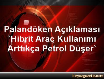 Palandöken Açıklaması 'Hibrit Araç Kullanımı Arttıkça Petrol Düşer'