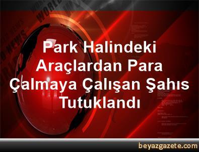 Park Halindeki Araçlardan Para Çalmaya Çalışan Şahıs Tutuklandı