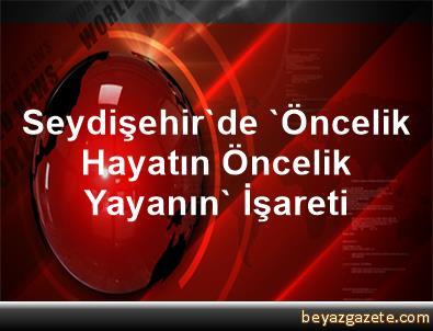 Seydişehir'de 'Öncelik Hayatın Öncelik Yayanın' İşareti