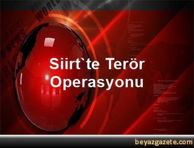 Siirt'te Terör Operasyonu