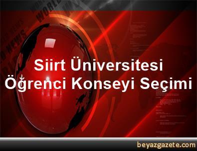 Siirt Üniversitesi Öğrenci Konseyi Seçimi