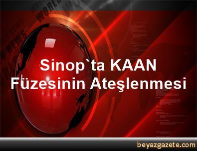 Sinop'ta KAAN Füzesinin Ateşlenmesi
