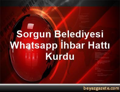 Sorgun Belediyesi Whatsapp İhbar Hattı Kurdu
