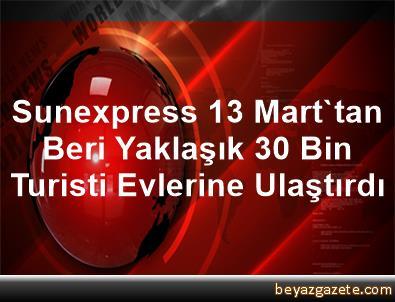 Sunexpress, 13 Mart'tan Beri Yaklaşık 30 Bin Turisti Evlerine Ulaştırdı