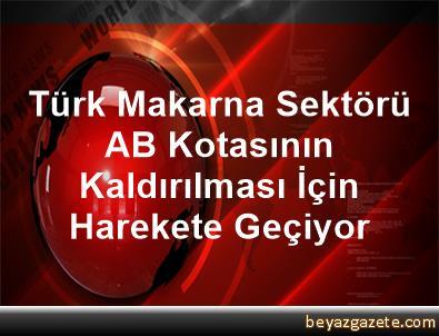 Türk Makarna Sektörü AB Kotasının Kaldırılması İçin Harekete Geçiyor