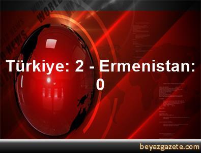 Türkiye: 2 - Ermenistan: 0