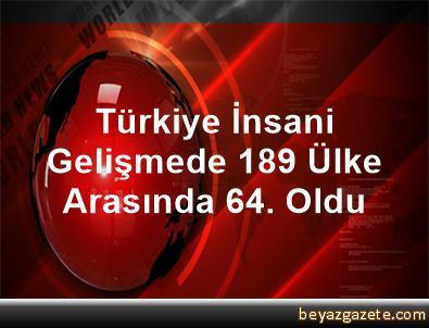 Türkiye, İnsani Gelişmede 189 Ülke Arasında 64. Oldu