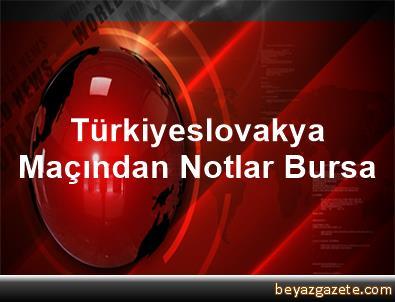 Türkiyeslovakya Maçından Notlar Bursa