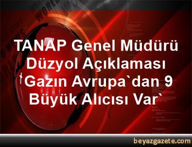 TANAP Genel Müdürü Düzyol Açıklaması 'Gazın Avrupa'dan 9 Büyük Alıcısı Var'