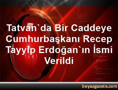 Tatvan'da Bir Caddeye Cumhurbaşkanı Recep Tayyip Erdoğan'ın İsmi Verildi