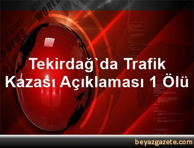 Tekirdağ'da Trafik Kazası Açıklaması 1 Ölü