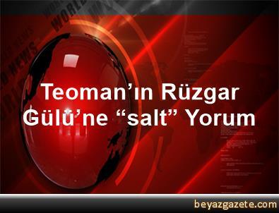 """Teoman'ın Rüzgar Gülü'ne """"salt"""" Yorum"""