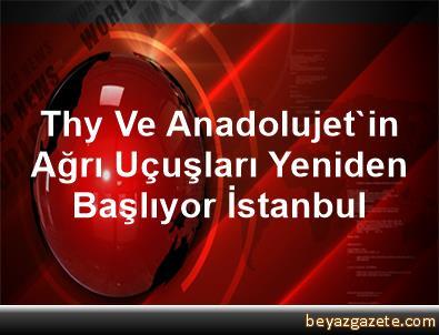 Thy Ve Anadolujet'in Ağrı Uçuşları Yeniden Başlıyor İstanbul