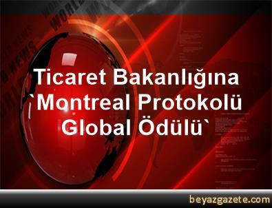 Ticaret Bakanlığına 'Montreal Protokolü Global Ödülü'