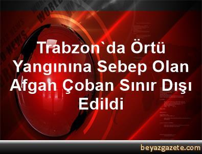 Trabzon'da Örtü Yangınına Sebep Olan Afgan Çoban Sınır Dışı Edildi