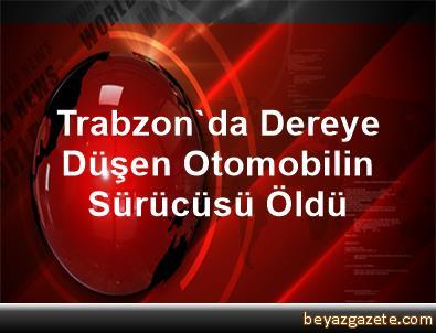 Trabzon'da Dereye Düşen Otomobilin Sürücüsü Öldü