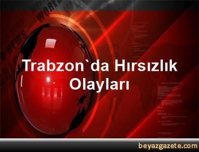 Trabzon'da Hırsızlık Olayları