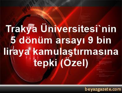 Trakya Üniversitesi'nin 5 dönüm arsayı 9 bin liraya kamulaştırmasına tepki (Özel)