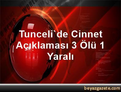 Tunceli'de Cinnet Açıklaması 3 Ölü, 1 Yaralı