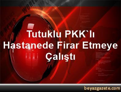 Tutuklu PKK'lı Hastanede Firar Etmeye Çalıştı