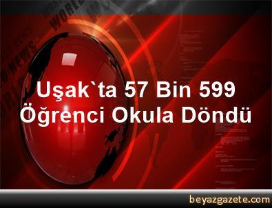 Uşak'ta 57 Bin 599 Öğrenci Okula Döndü