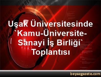 Uşak Üniversitesinde 'Kamu-Üniversite-Sanayi İş Birliği' Toplantısı