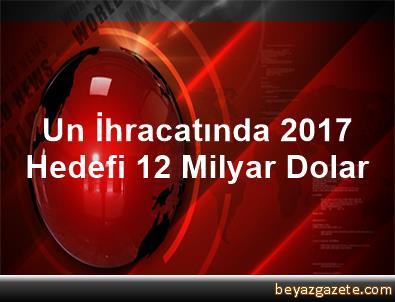 Un İhracatında 2017 Hedefi 1,2 Milyar Dolar