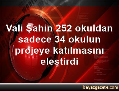 Vali Şahin, 252 okuldan sadece 34 okulun projeye katılmasını eleştirdi