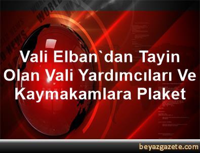 Vali Elban'dan Tayin Olan Vali Yardımcıları Ve Kaymakamlara Plaket