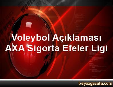 Voleybol Açıklaması AXA Sigorta Efeler Ligi