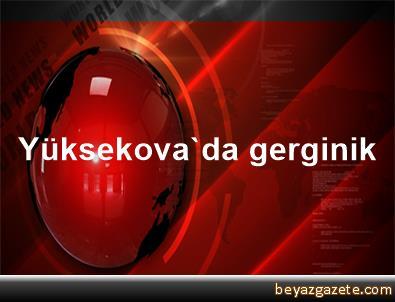 Yüksekova'da gerginik