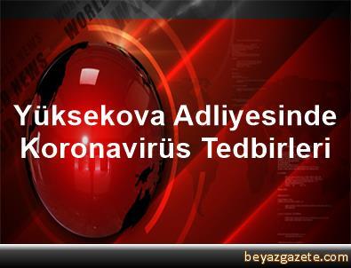 Yüksekova Adliyesinde Koronavirüs Tedbirleri