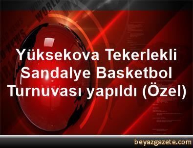 Yüksekova Tekerlekli Sandalye Basketbol Turnuvası yapıldı (Özel)