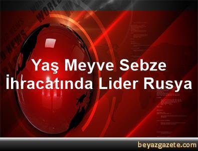 Yaş Meyve Sebze İhracatında Lider Rusya