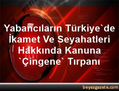 Yabancıların Türkiye'de İkamet Ve Seyahatleri Hakkında Kanuna 'Çingene' Tırpanı