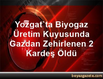 Yozgat'ta Biyogaz Üretim Kuyusunda Gazdan Zehirlenen 2 Kardeş Öldü