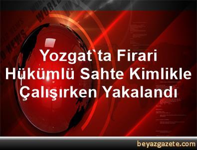 Yozgat'ta Firari Hükümlü Sahte Kimlikle Çalışırken Yakalandı