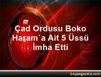 Çad Ordusu Boko Haram'a Ait 5 Üssü İmha Etti