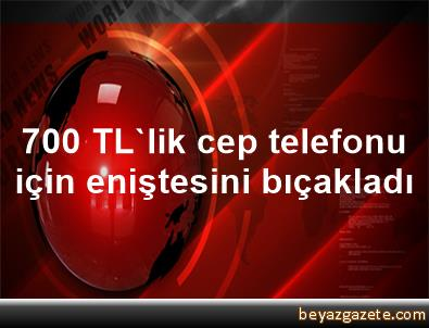 700 TL'lik cep telefonu için eniştesini bıçakladı