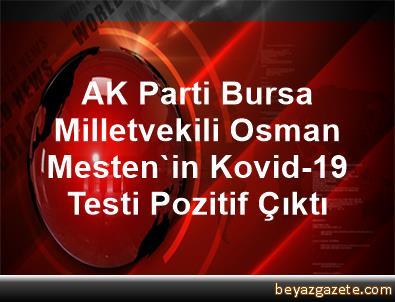 AK Parti Bursa Milletvekili Osman Mesten'in Kovid-19 Testi Pozitif Çıktı