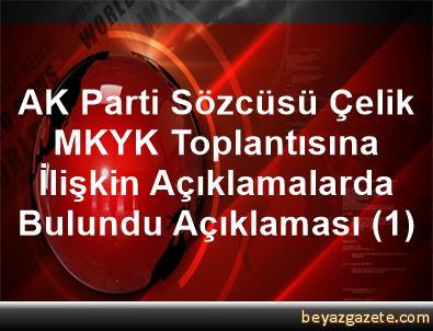 AK Parti Sözcüsü Çelik, MKYK Toplantısına İlişkin Açıklamalarda Bulundu Açıklaması (1)