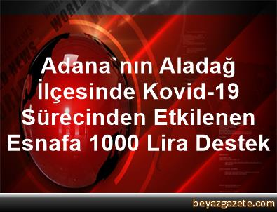 Adana'nın Aladağ İlçesinde Kovid-19 Sürecinden Etkilenen Esnafa 1000 Lira Destek