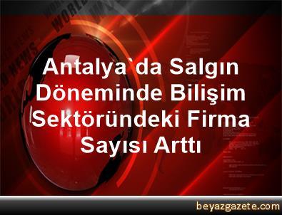 Antalya'da Salgın Döneminde Bilişim Sektöründeki Firma Sayısı Arttı