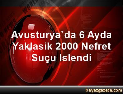 Avusturya'da 6 Ayda Yaklasik 2000 Nefret Suçu Islendi