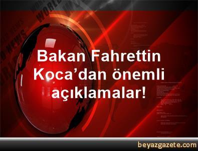 Bakan Fahrettin Koca'dan önemli açıklamalar!